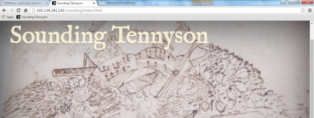 Sounding Tennyson includes the first recordings and publications of Emily Tennyson's piano/vocal settings for Tennyson's work