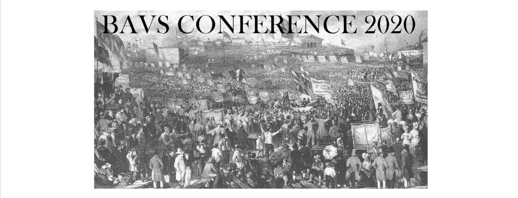 The BAVS conference 2020 at the University of Birmingham has been postponed due to the Corona virus epidemic. It will now be held in 2021. In the mean time, click here to read the call for papers.