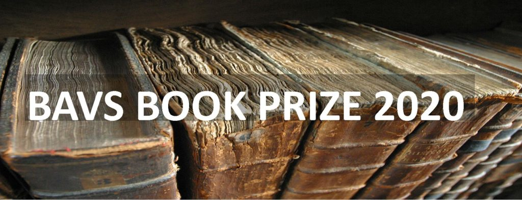 BAVS is launching a new book prize for second monographs. Nominate yours now.